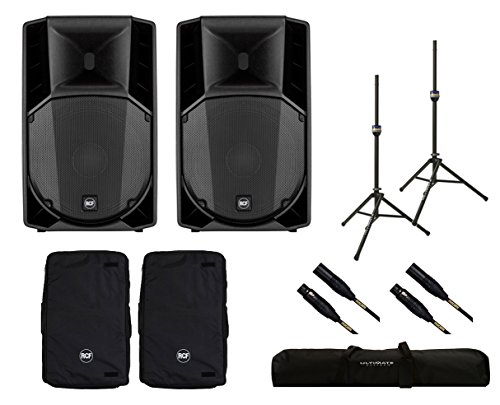 2x RCF ART 715-A MK4 Active Speaker + Covers + Stands + Bag + Mogami ()