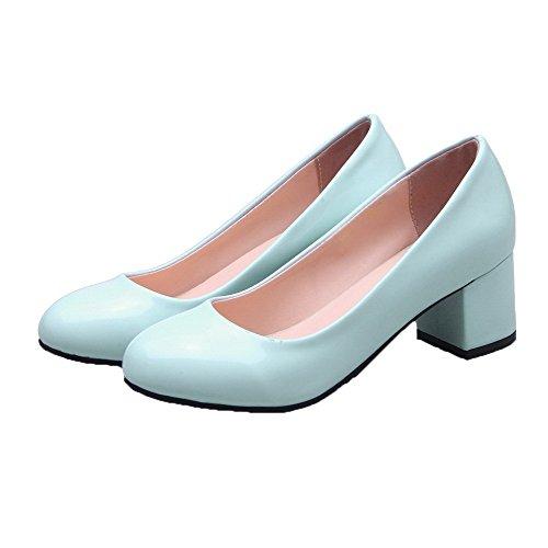 Finta Tirare Azzurro Pelle VogueZone009 di Pelle Flats Ballet Scamosciata Maiale Donna v455qXwU