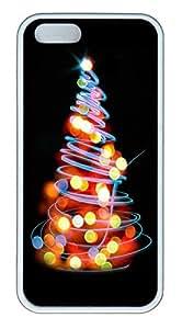 iPhone 5 5S Case Blurred Xmas Tree TPU Custom iPhone 5 5S Case Cover White