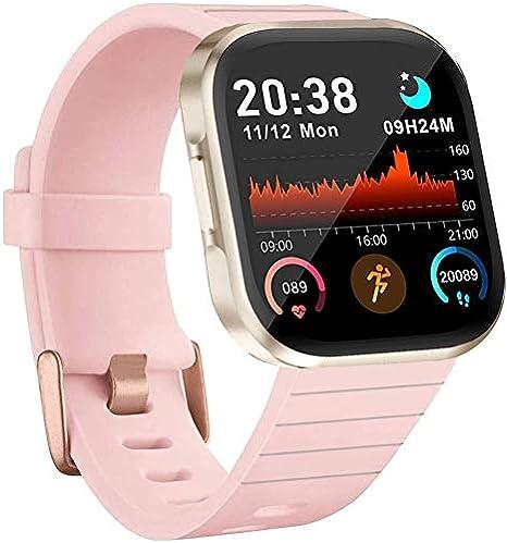 Reloj inteligente AOYODKG pantalla HD de 1.4 pulgadas, monitor de ritmo cardíaco, calorías, monitor de sueño, podómetro, pulsera impermeable IP67 para ...