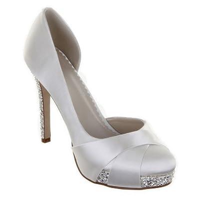 Rainbow Club Wedding Shoes Christy Ivory And Silver Dyeable Bridal UK 75 EU