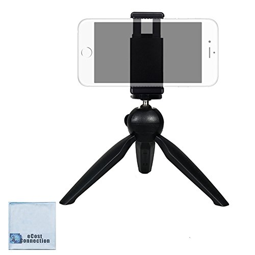 eCostConnection Mini Compact Tripod with Rotating head + eCostConnection Universal Tripod Mounting Adapter with dual 1/4