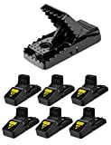 WEIO Mouse Trap, Upgraded 6 PACK Sensitive Mouse Traps Quick Kill Effective Rat Trap That Work Reusable and Durable Mice Traps Easy Set Rodent Traps
