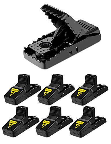 WEIO Mouse Trap, Upgraded 6 PACK Sensitive MouseTraps Quick Kill EffectiveRat Trap ThatWork Reusable and Durable Mice Traps Easy Set Rodent Traps by WEIO