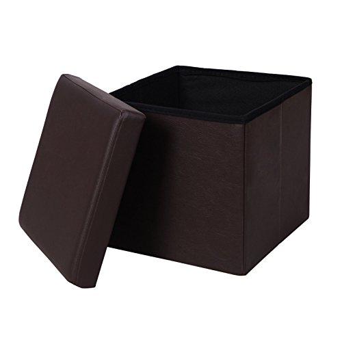 SONGMICS Leather Folding Storage ULSF10B
