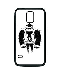 Banksy Art Ape Samsung Galaxy S5 Case, Customized Silicone Rubber TPU back cover cell phones for Samsung Galaxy S5 i9600 Case