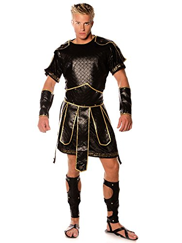 Underwraps Men's Spartan, Black/Gold, One Size