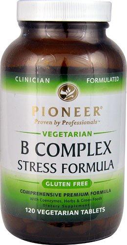 Pioneer B Complex Stress Formula -- 120 Vegetarian Tablets - 3PC by Pioneer (Verified Gluten Free)