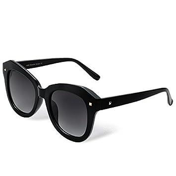 TL-Sunglasses mujer gafas de sol polarizadas PC Acelerador Guía Gafas Steampunk, negro