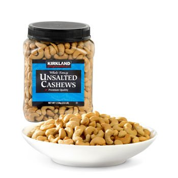 Kirkland Signature Kirkland Signature Unsalted Cashews, 2.5 Pound (Pack of 2) by Kirkland Signature