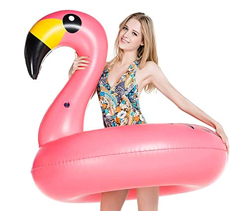Jasonwell Giant Inflatable Flamingo Pool Float Party Tube with Rapid Valves Summer Beach Swimming Pool Lounge Raft Decorations Toys for Adults & Kids ()