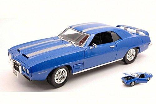 1969 Pontiac Firebird, Blue - Road Signature 92368 - 1/18 Scale Diecast Model Toy Car by Road Signature