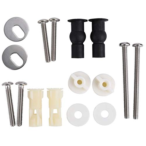 Cosybreeze Universal Toilet Seats Screws and Bolts Metal - Toilet Seat Hinges Bolt Screws - Fixings Expanding Rubber Top Cover Lip Nut Mount Screw Replacement Parts Kit (Blind Bolt)