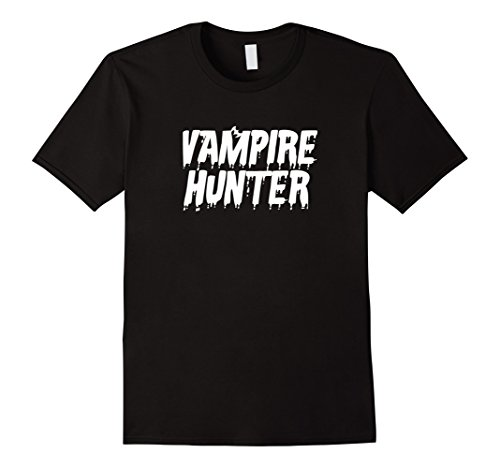 Vampire Hunter Costumes (Mens Vampire Hunter Halloween Costume T-Shirt Large Black)