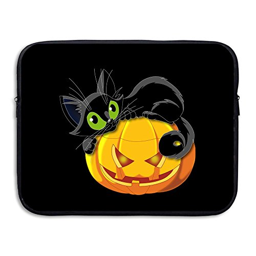 Halloween Cat Briefcase Handbag Case Cover For 13-15 Inch Laptop, Notebook, MacBook Air/Pro