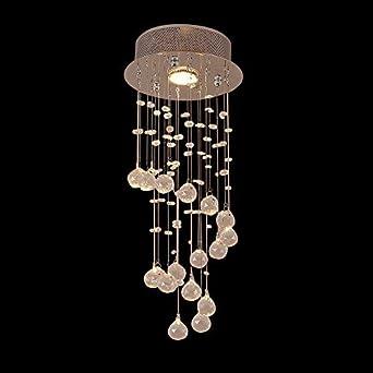 Unimall Moderne Kristall Kronleuchter Deckenlampe Led Ø 20 Cm Geeignet Für  Kinderzimmer Flur Esszimmer
