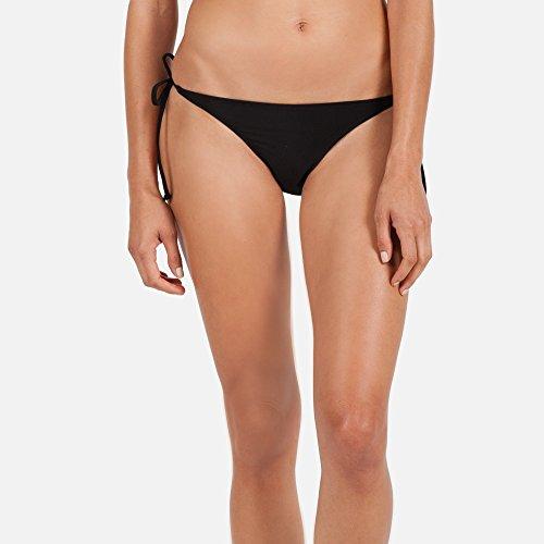 Volcom Juniors Simply Solid Skimpy Bikini Bottom, Black, Medium