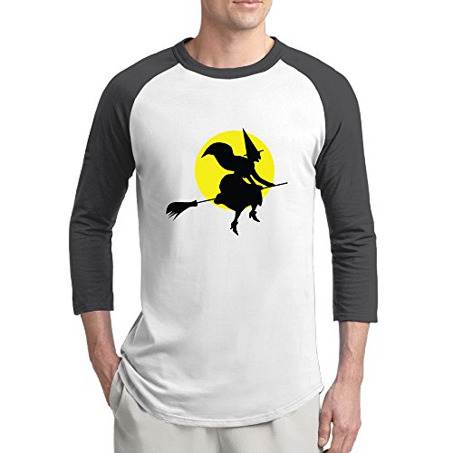 Halloween Witch Man 3/4 Sleeve Vintage Baseball Shirts -