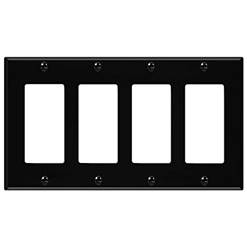 ENERLITES Decorator Light Switch or Receptacle Outlet Wall Plate, Size 4-Gang 4.50