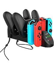 TwiHill o carregador multifuncional é adequado para o controlador Nintendo Switch Joy-Con / Nintendo PRO. Controlador Nintendo Switch Joy-Con / carregador controlador de jogos Nintendo PRO