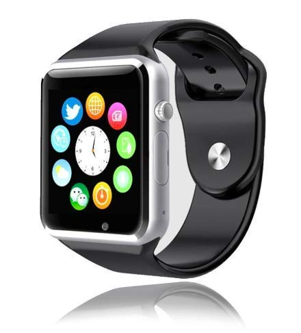 Style Asia Touch Screen Bluetooth Enabled Smart Watch, Camera, Music, Fitness Tracker and Pedometer, Black Matte Finish, Compatible to All Android and iOS Mobile ()
