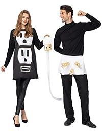 USB/Light Plug and Socket Couple Set Halloween Costume for Adult