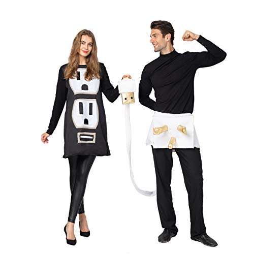 Famous Halloween Costume Ideas For Couples (Spooktacular Creations USB/Light Plug and Socket Couple Set Halloween Costume for Adult (Standard))