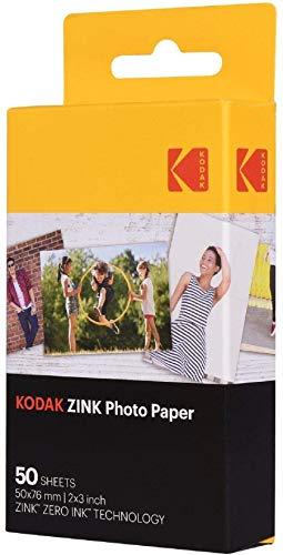 Kodak 2ʺx3ʺ Premium Zink Photo Paper (50 Sheets) Compatible with KODAK Smile and PRINTOMATIC (NOT with Kodak Mini Shot, Mini2) from KODAK