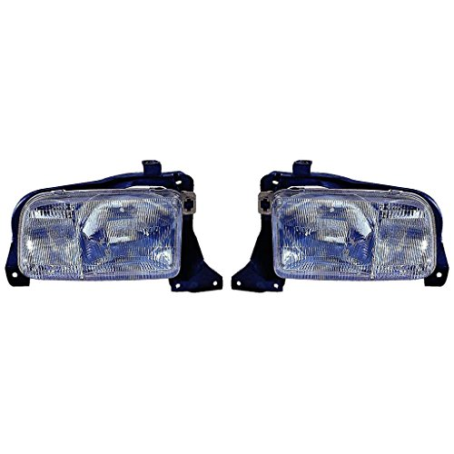 (Fits Chevrolet Tracker 1999-2004 Headlight Assembly Unit Pair Driver and Passenger Side (CAPA Certified) GM2518140, GM2519140)