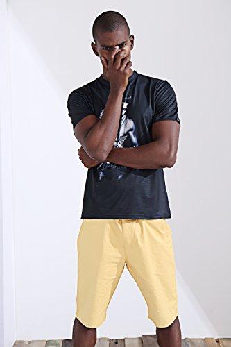 katomi Herren Kurzärmliges Shirt 3D-Druck Kurzarm T-Shirt Sexy Herren Apparel