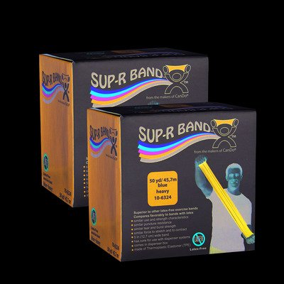 - FAB106334 - Fabrication Enterprises, Inc. Sup-R band, Twin-Pak, latex-free, blue, 100 yard (2 50-yd boxes)