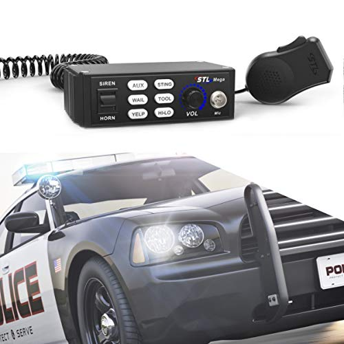 SpeedTech Lights Mega 100-Watt Police Siren and Emergency Vehicle Siren System with Horn and PA Microphone