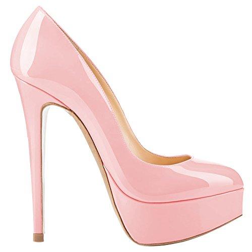 Rosa AOOAR femme chaussures compensées Lackleder tAAwqBY