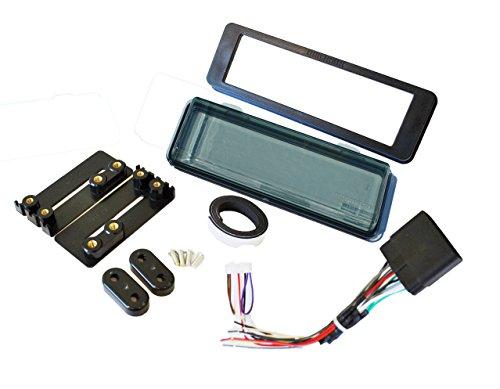 Mount Radio Stereo Install Kit Fits HARLEY DAVIDSON FLHT Dash Kit w/Harness AND Smoked SPLASHGUARD ()