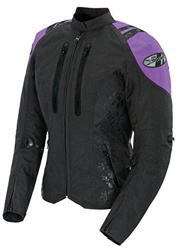 Joe Rocket Atomic 4.0 Womens Black/Purple Textile Motorcycle Jacket - 2X-Large