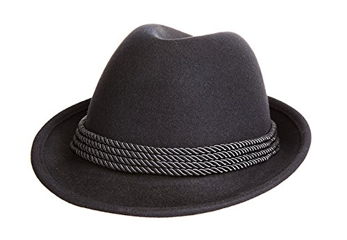 Holiday Oktoberfest Wool Bavarian Alpine Hat - Black Color, Large by Britta Products (Image #2)