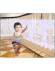 Child Safety Net, Baby Proofing Banister Stair Net, 6.5ft x 2.6ft Durable Balcony Guard Safety Net for Kids Toys Pets, Guard Rail Safety Net for Outdoor Balcony and Indoor Stair 19