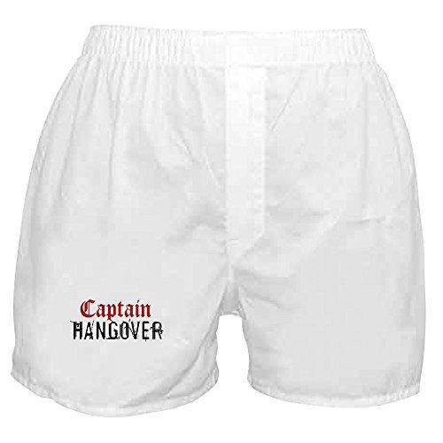 (CafePress - Captain Hangover - Novelty Boxer Shorts, Funny Underwear White)