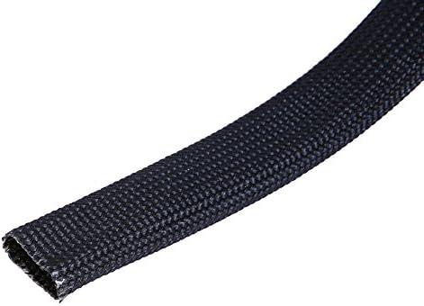WISAUTO High Temp Black Auto Heat Sleeve Fiberglass Adjustable Heat Shield Black Color (10FT X 13MM(1/2''))