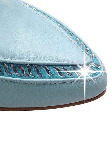 GGX/Damen Schuhe PU Sommer/spitz Toe Heels Büro & Karriere/Casual geschoben Ferse funkelnden Glitzer Blau/Pink/Weiß white-us10.5 / eu42 / uk8.5 / cn43