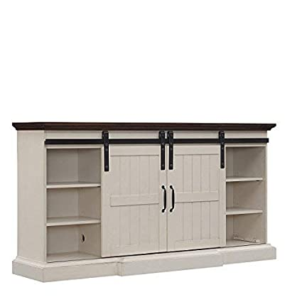 Amazon Com Hogan Electric Fireplace Tv Stand In Weathered White