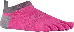 Injinji 2.0 Men\'s Run Lightweight No Show Toesocks, Canyon Pink, Large