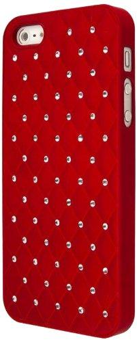 EMPIRE GLITZ Slim-Fit Case Étui Coque for Apple iPhone 5 / 5S - Bling Accent Red