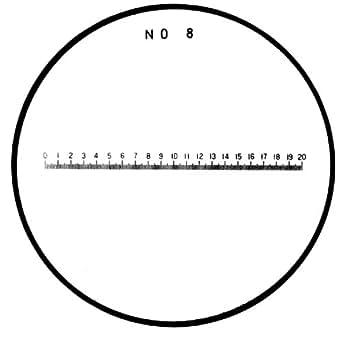 Mitutoyo 183-109, retícula para comparador de bolsillo, para en mm Longitud (mm 0,1)