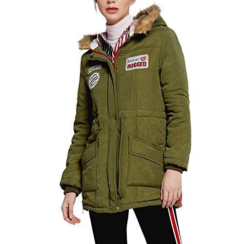 Fashion Cappuccio Womens Gestante Snow Winter Sweatblazer Outdoor Slim Warm Coat Carnevale Parka Grün Cappotto Sport Outwear Lungo Collo Con Style gfy6Y7b