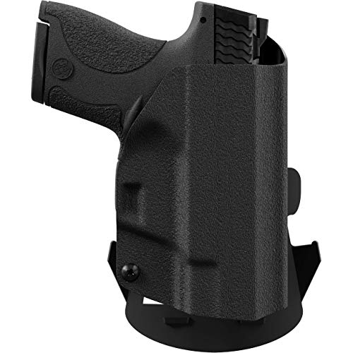 We The People - OWB Holster Compatible with Keltec PF9 Gun - Outside  Waistband Concealed Carry Kydex Holster (Left Hand, Black)