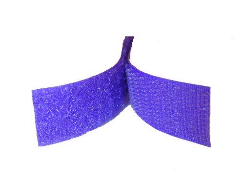 3/4'' Purple Sew On Hook and Loop - 5 Yds of Hook and 5 Yds of Loop Per Package 5 Yd by Generic