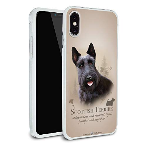 Scottish Terrier Scottie Dog Breed Protective Slim Fit Hybrid Rubber Bumper Case Fits Apple iPhone - Terrier Iphone Scottish
