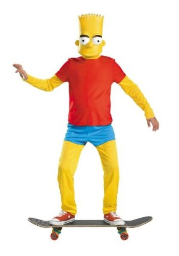 The Simpsons Bart Simpson Deluxe Child Costumes (Bart Simpson Deluxe Child Costume - Medium)