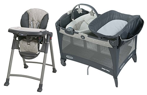 Graco Newborn Napper LX Playard with Slim Folding Highchair